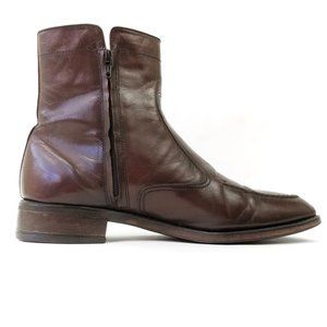 Florsheim Men's Brown Leather High Top Boots 8.5
